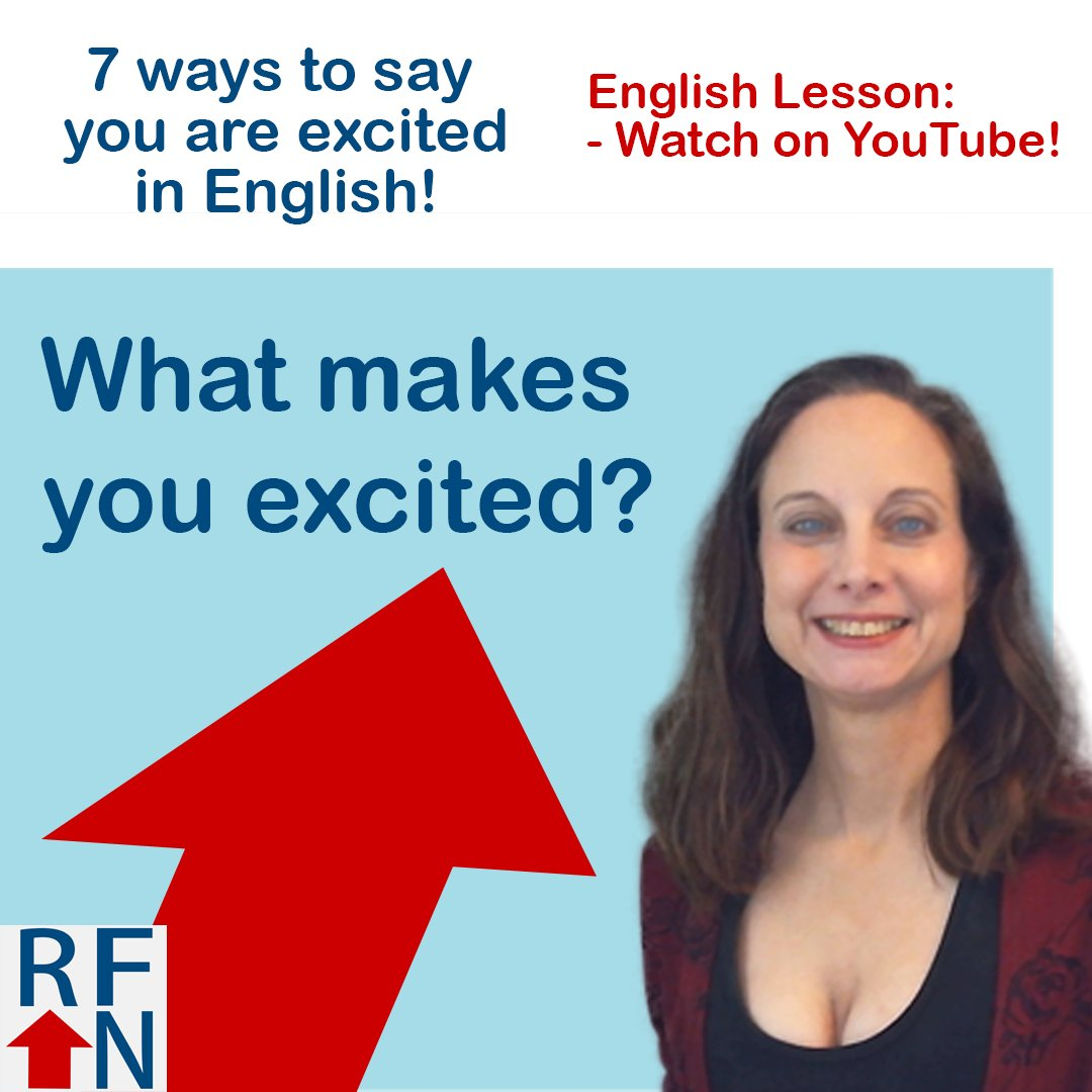 New English lesson: 7 ways/idioms to talk about being excited! Watch here:  http:// bit.ly/2gBReuC  &nbsp;   on @YouTube #LearnEnglish #Englishidioms <br>http://pic.twitter.com/cPbCuFwwI0