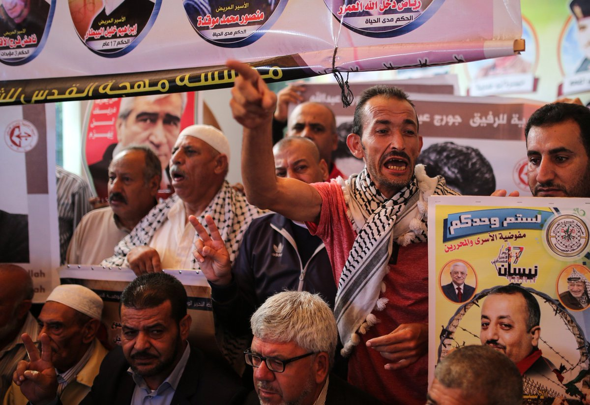 [Photos] #Gaza : Sit-in en solidarité avec les #Palestiniens incarcérés par #Israël  http://goo.gl/zSQaVA  - FestivalFocus