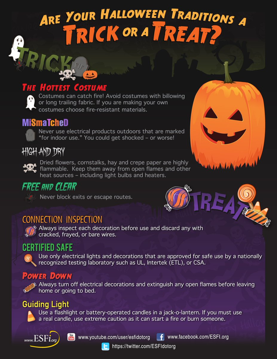 #Halloween is a week away! Make sure there isn&#39;t real danger lurking in your #holiday décor with our safety tips:  http:// bit.ly/1MEyeT8  &nbsp;  <br>http://pic.twitter.com/HcGexjG44D