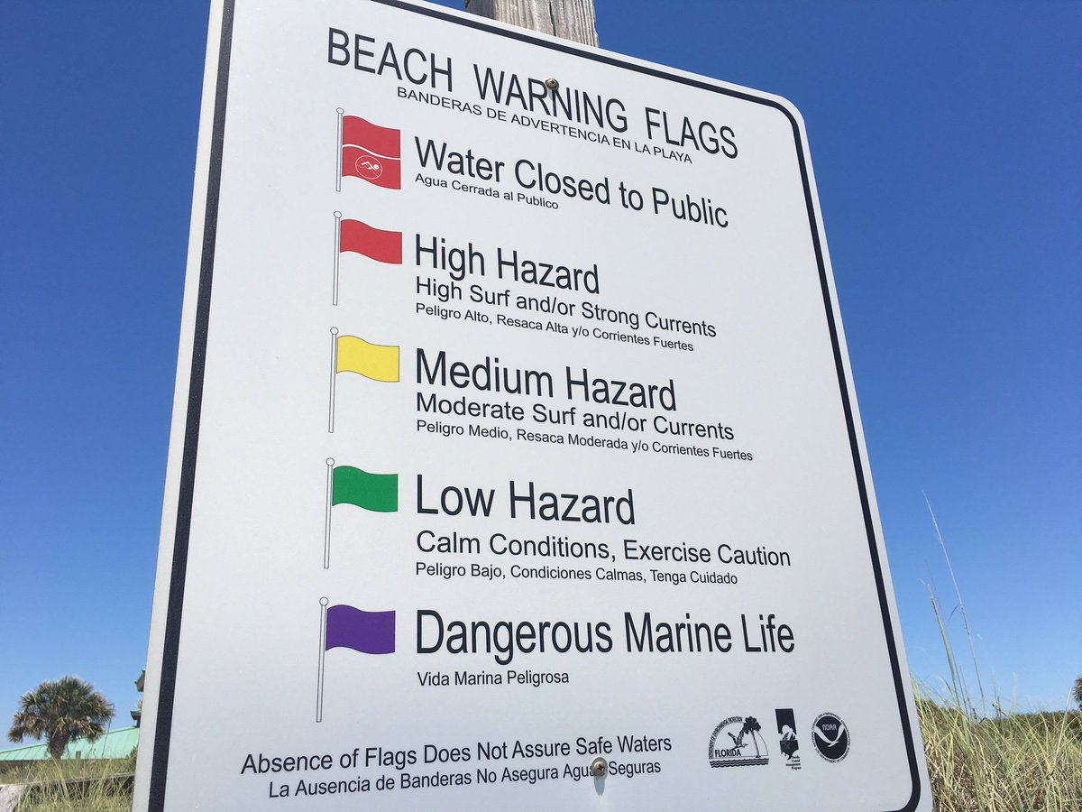 Double red flags are now flying on Panama City Beach. Swimmers, stay out of the Gulf! Not as rough at Tuesday. #wjhgtv