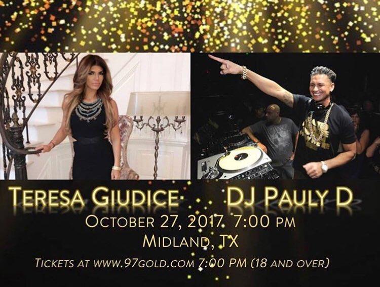MIDLAND TEXAS This Friday With The Beautiful @Teresa_Giudice !!! Grab Ur Tix https://t.co/H2Ada6r0VU https://t.co/MUDEfnUjNY