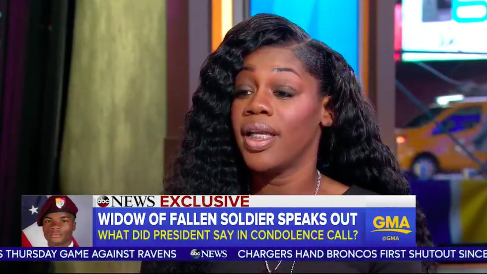 Gold Star widow confirms Dem lawmaker's account of call from Trump: It was '100 percent correct' https://t.co/OKE6CBYKoW