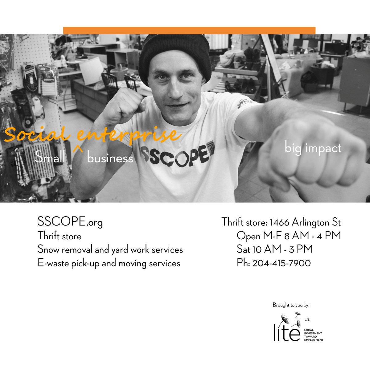 This #small #business adds #impact! Check out @sscopeinc, #Winnipeg! @TheWpgChamber #SmallBusiness #socialenterprise<br>http://pic.twitter.com/JWSZXmxcPx