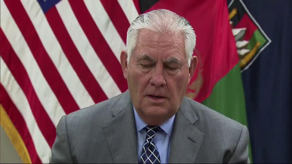 Secretary of State Rex Tillerson comments on #Pakistan during his press conference in #Afghanistan today.