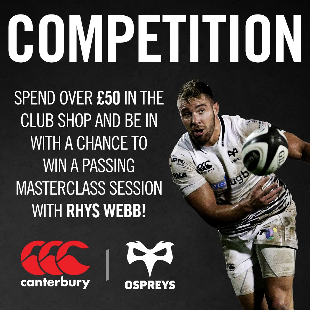 You could win a one-to-one passing session with Rhys Webb! Find out mo...