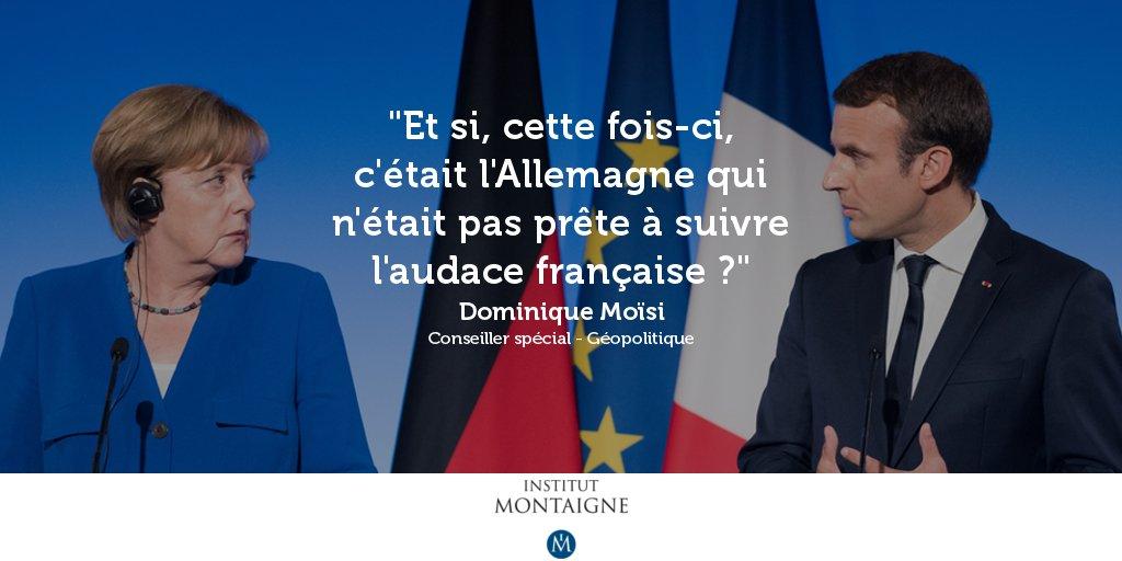 #Europe : l'éternel décalage du couple franco-allemand ? Analyse de Dominique Moïsi 🇪🇺 https://t.co/xheklUthEf