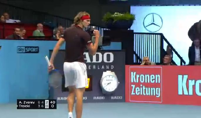#Zverev gets the double break after #Troicki deposits the half volley...