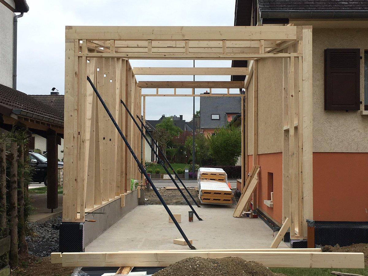 charpente goebel on twitter construction dun garage en bois pour un campingcar au luxembourg holzbau httpstcocbkjxu46zy - Construction D Un Garage En Bois