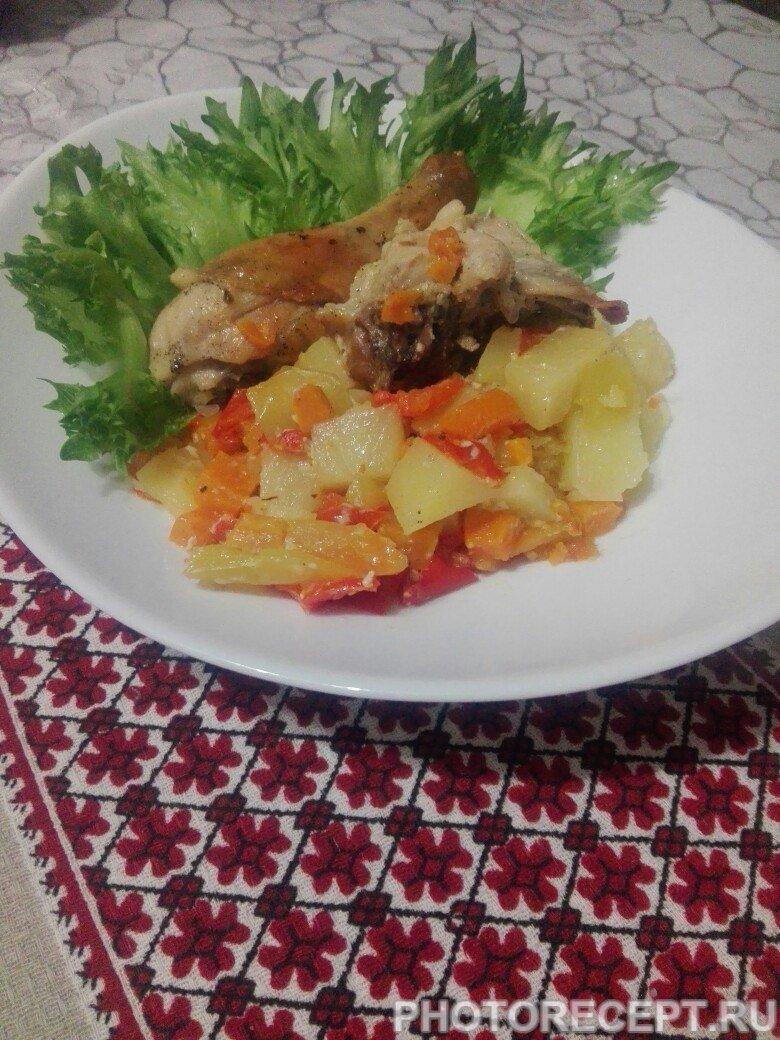 Курица в духовке с картошкой в фольге рецепт