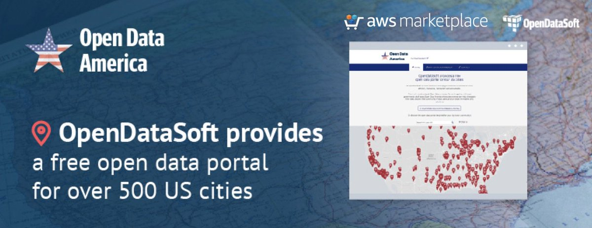 We're thrilled to kick off Open Data America in collaboration with @awsmarketplace -- Free #data portals for over 500 US #cities. Check out the portal we developed for your #community!   http:// bit.ly/2h38Hch  &nbsp;   #opendata #dataviz #cityinnovation<br>http://pic.twitter.com/rUq8rMLtUf