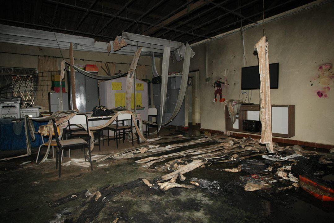 Duas crianças, vitimas do incêndio na creche Gente Inocente, em Janaúba, no norte de Minas Gerais, recebem alta.