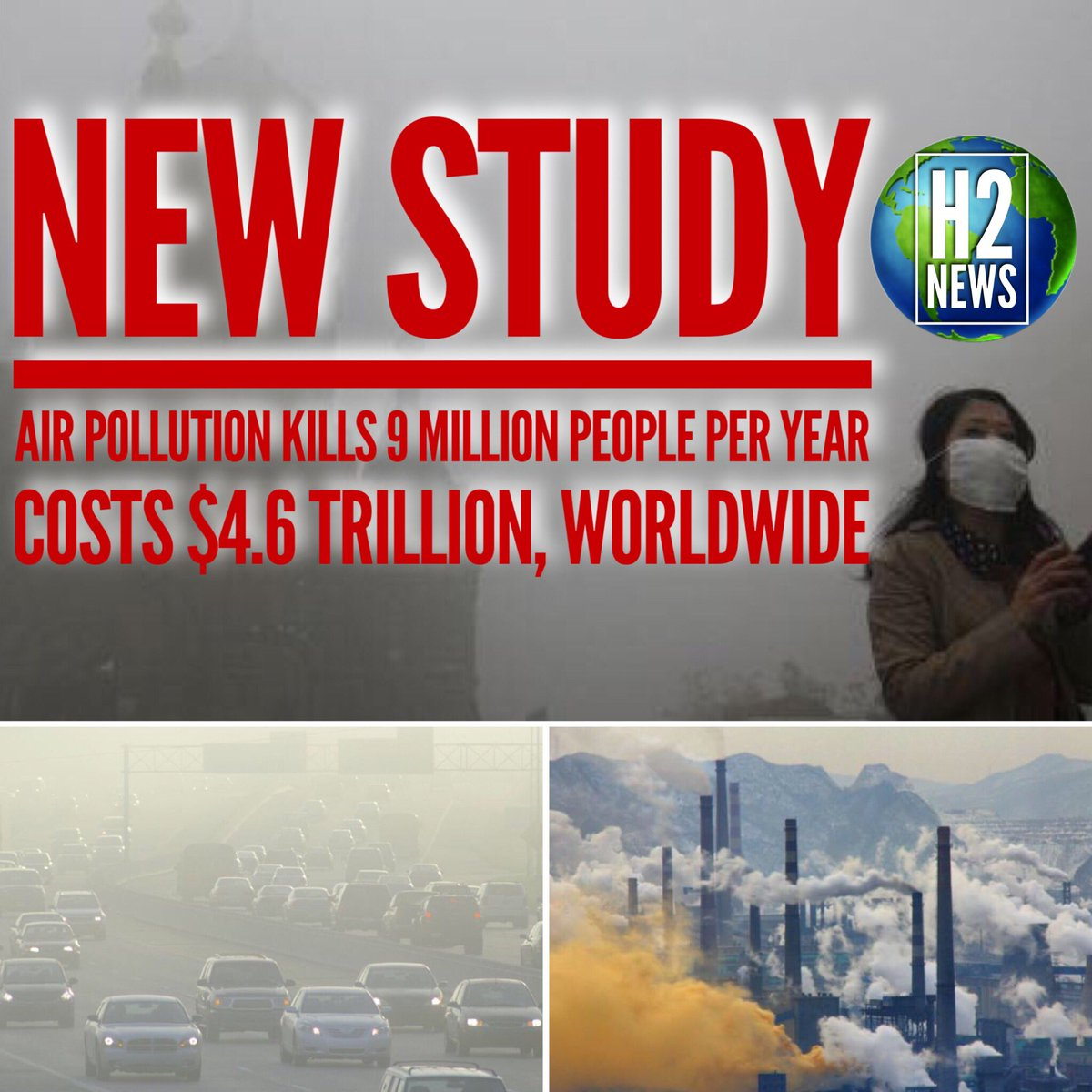 New study shows #air #pollution is the most costly and deadly problem on #Earth. 1/6 premature deaths are due to toxic exposure. #hydrogen<br>http://pic.twitter.com/6cXEGTZOse