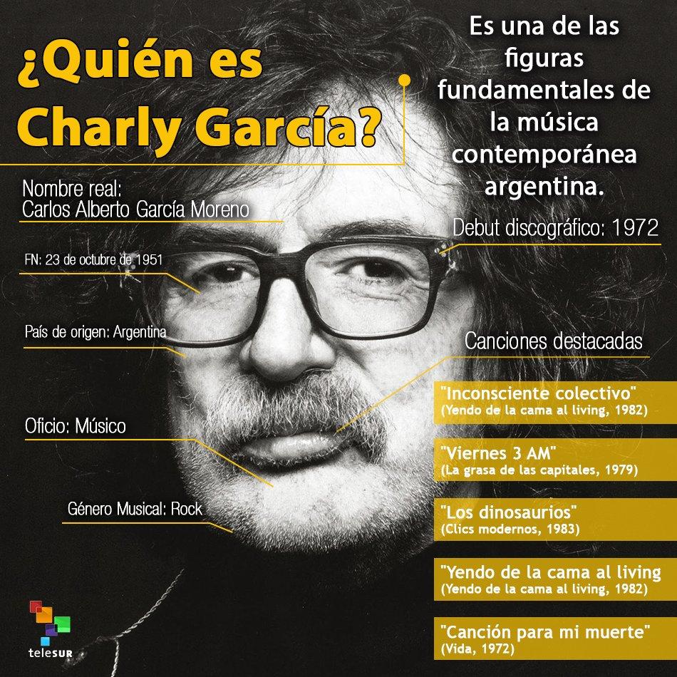 Diez canciones para celebrar la vida de #CharlyGarcía https://t.co/Kcc...