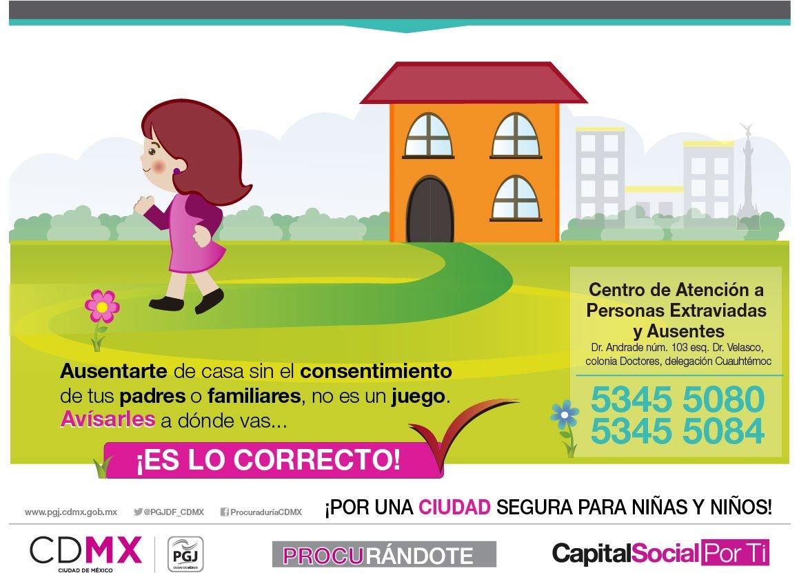 Procuraduria Cdmx On Twitter Ausentarse De Casa Sin Avisarle A