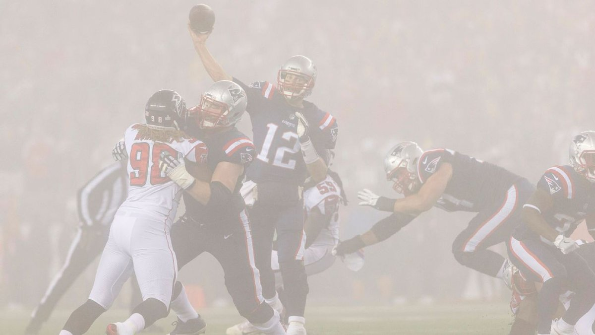Whiteout: Fog renders Pats' game film useless https://t.co/CyIG7zA7ve...