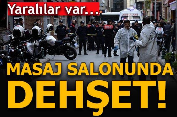 Eskişehir'de masaj salonunda dehşet 2 kişi yaralandı, 6 kişi gözaltınd...