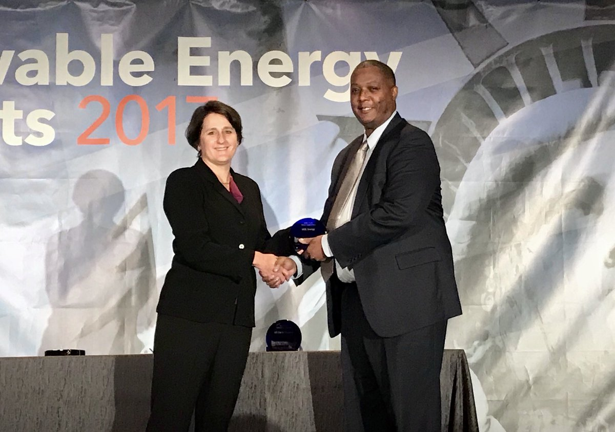 Honored beyond words to have just received a 2017 Green Power Leadership Award for #Green Power Market Development. #REM2017<br>http://pic.twitter.com/Sp9fa0732H