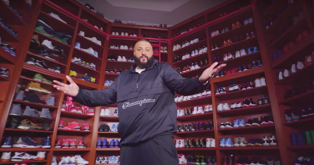 DJ Khaled shows off his insane sneaker collections, filled with unreleased Jordans:  👟 👟 👟  https://t.co/K6FKceS0Wp