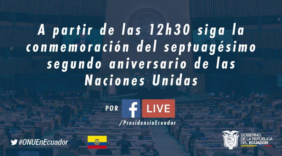 TRANSMISIÓN | Sigue la conmemoración del 72° aniversario de las Nacion...