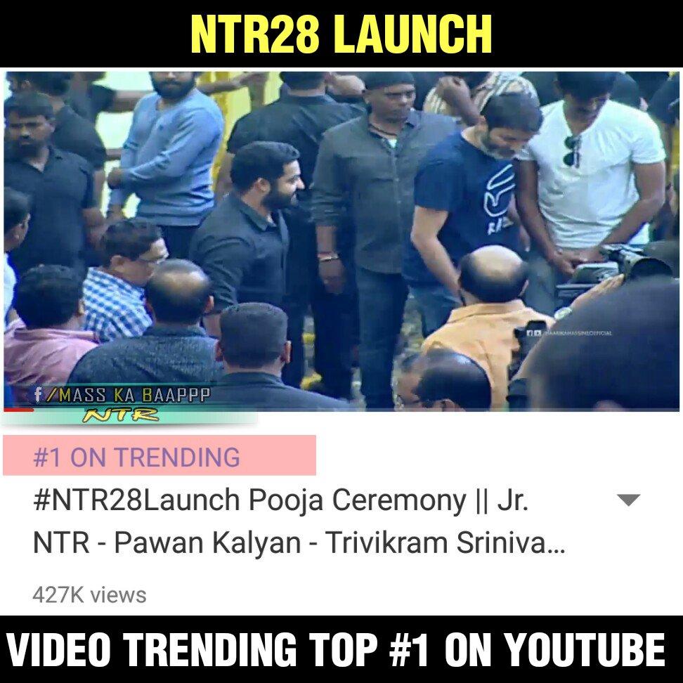 #NTR28Launch Video Trending Top #1 #YouTube  https:// youtu.be/TD2XlAKMl6k  &nbsp;  <br>http://pic.twitter.com/fbtWZpYi24
