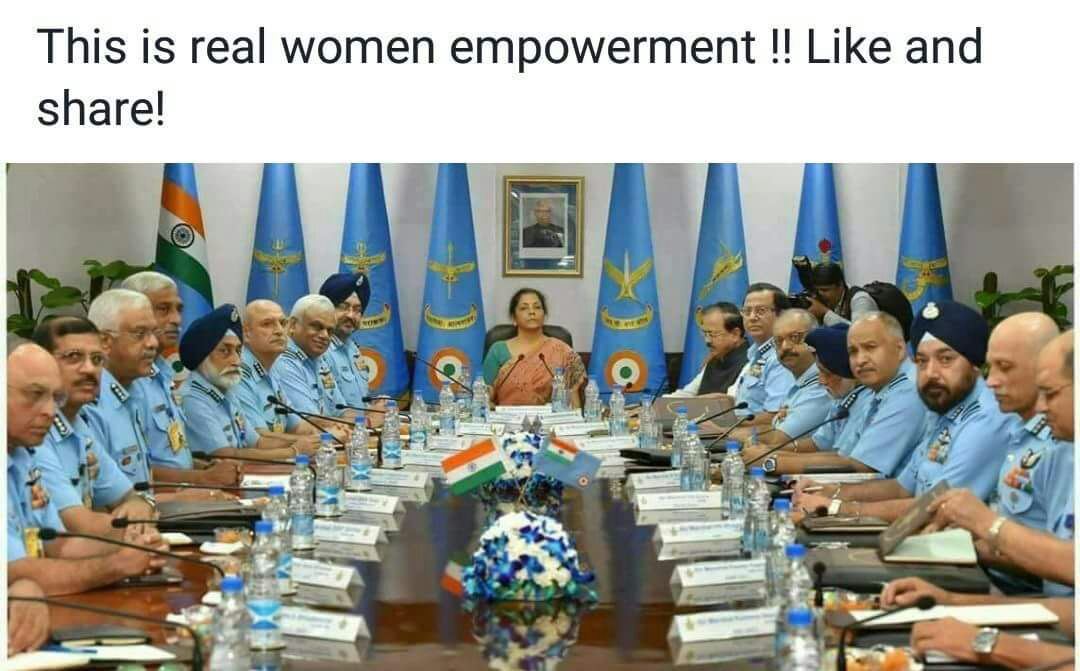 @nsitharaman  We are So Proud of You, by conducting Daily mtgs, &amp; Shouldering &amp; Respecting  #Respect RakshaMantri i feel Empowered  <br>http://pic.twitter.com/xoc9Jrmq3C