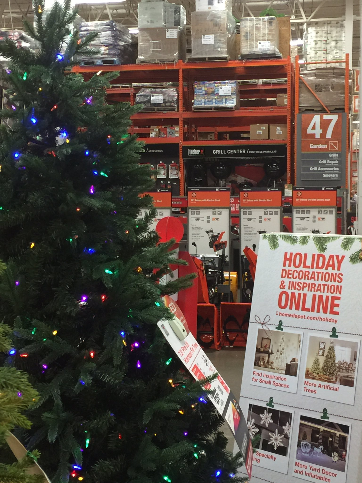 francis rose on twitter it seems counterintuitive to have the christmas trees so close to the grill center homedepot httpstcowouj7u3zbx