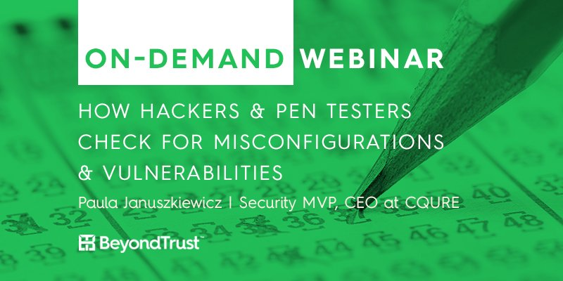 Did you miss last week&#39;s webinar on hacking vulnerabilities with #cybersecurity MVP @PaulaCqure? Watch it now!  http:// bit.ly/2zyDXYh  &nbsp;  <br>http://pic.twitter.com/egWTP7gXae