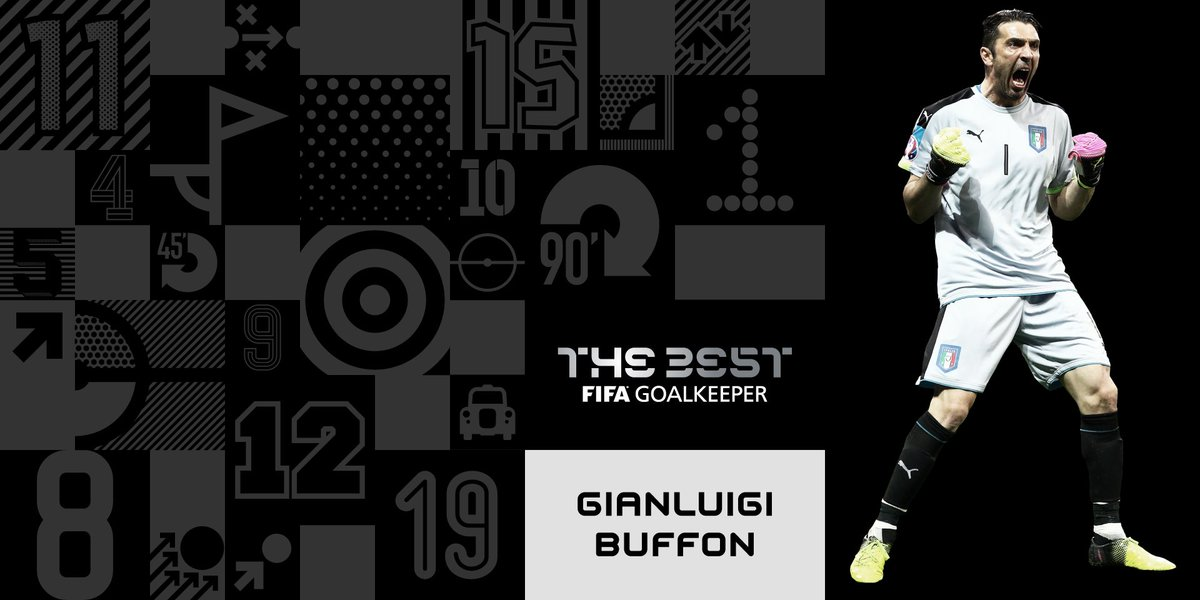 Congratulations, 🇮🇹Gianluigi Buffon! 👐 Winner of #TheBest FIFA Goalkee...