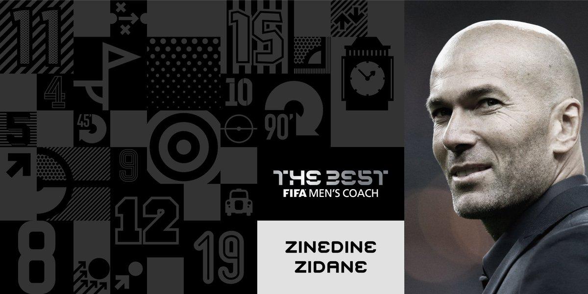 Zinédine Zidane est l'entraîneur de l'année pour le football masculin...