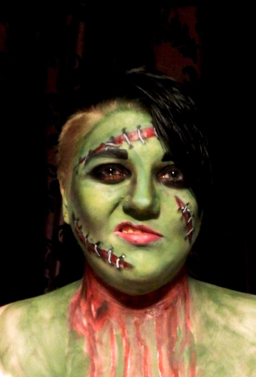 isabel morgan on twitter miss frankenstein halloween makeup halloween halloweenmakeup makeupartist frankenstein femalefrankenstein stiches