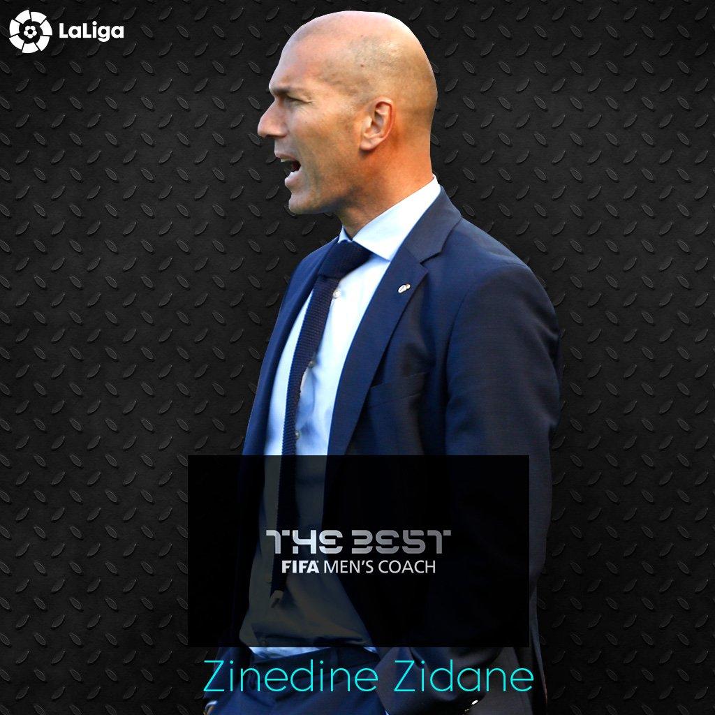 Congratulations to @realmadriden's Zinedine Zidane, #TheBest FIFA Men'...