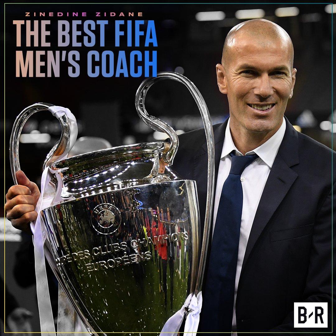 Zinedine Zidane wins FIFA Best Coach at #TheBest Awards! 🙌 https://t.c...