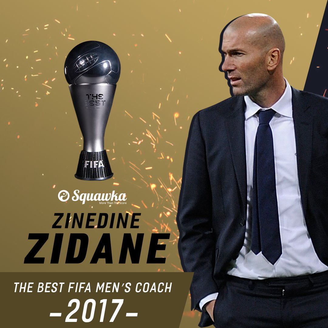 OFFICIAL: Zinedine Zidane has been named The Best FIFA Men's Coach 201...
