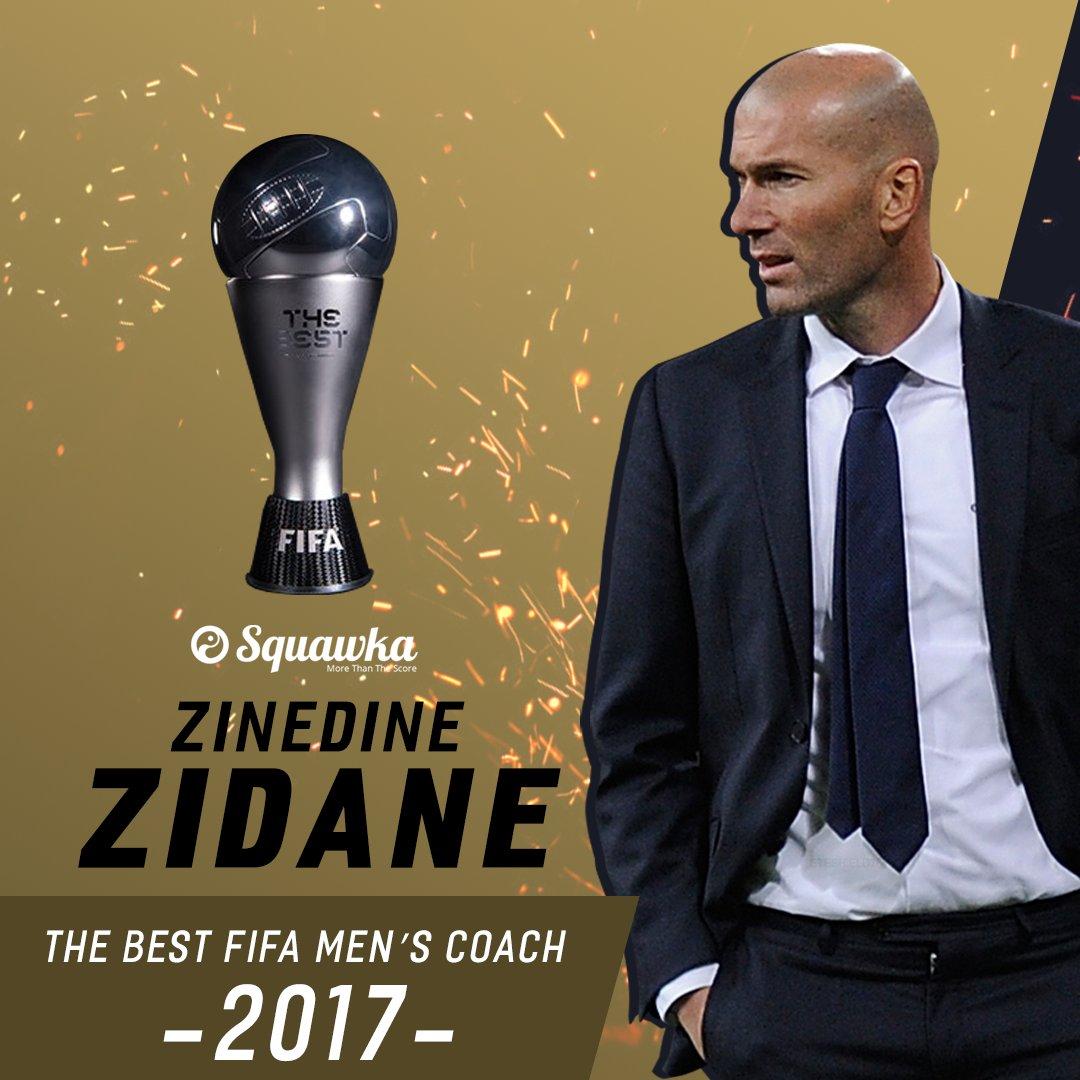 OFFICIAL: Zinedine Zidane has been named The Best FIFA Men's Coach 201...