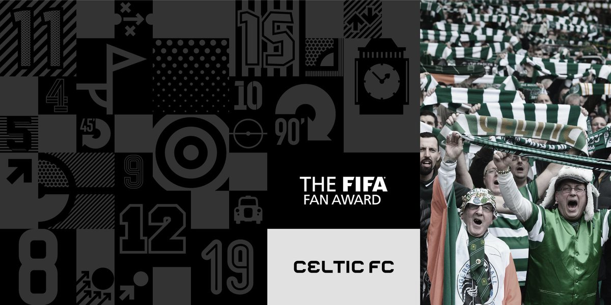 Congratulations, Celtic! 🍀 Winners of the FIFA Fan Award 2017 🏆  #TheB...