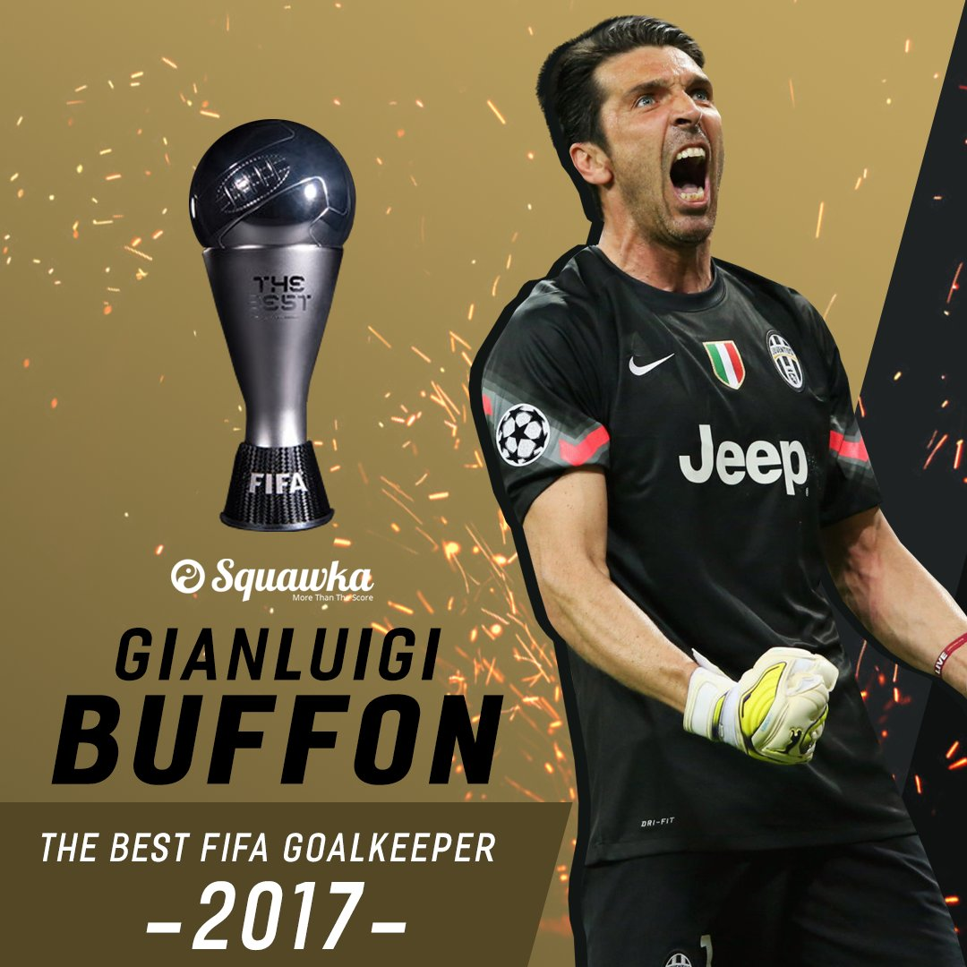 OFFICIAL: Gianluigi Buffon has been named The Best FIFA Goalkeeper 201...