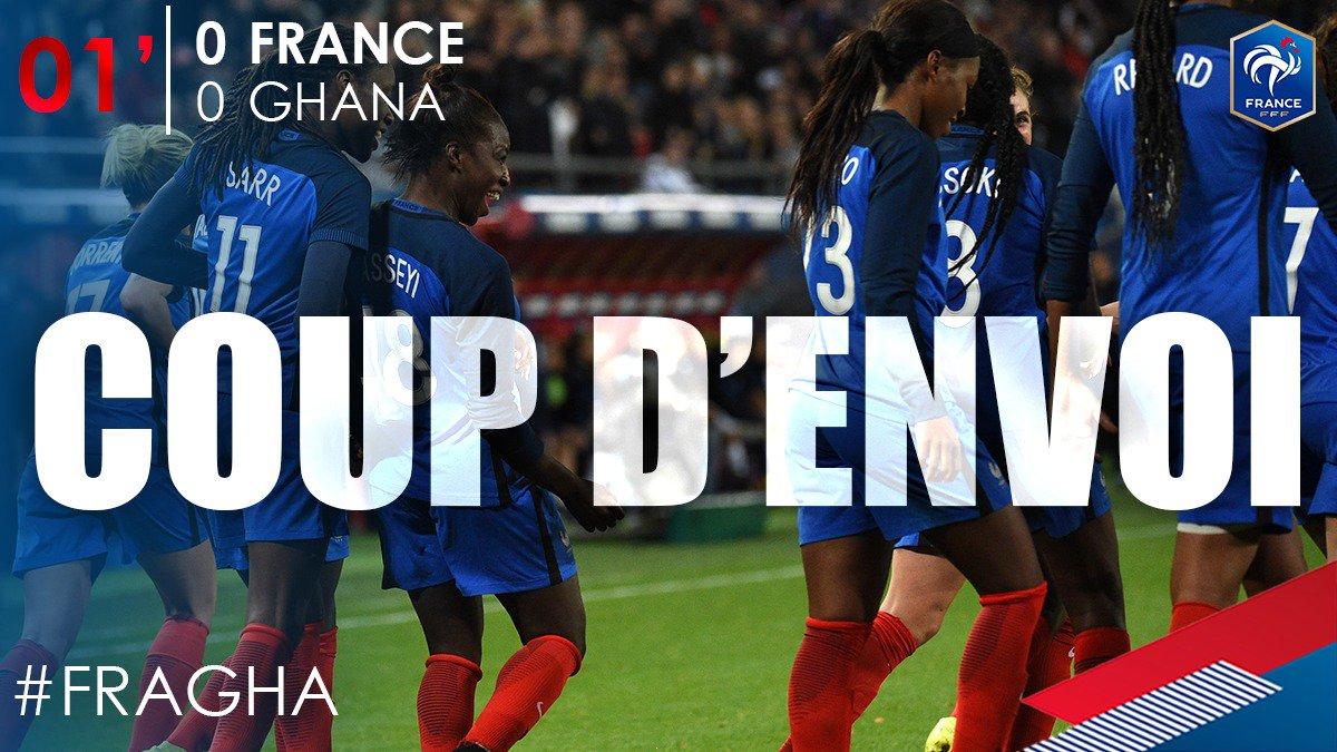 C'est parti pour ce France - Ghana ! #FRAGHA 🔵⚪️🔴 https://t.co/lfCVTOE...