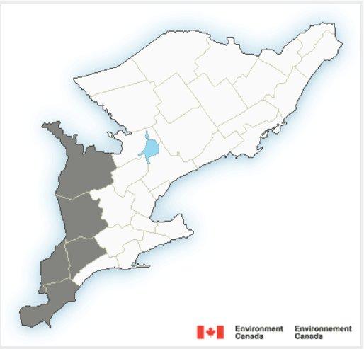 Bulletin météorologique spécial en vigueur pour Ontario Sud - https://...