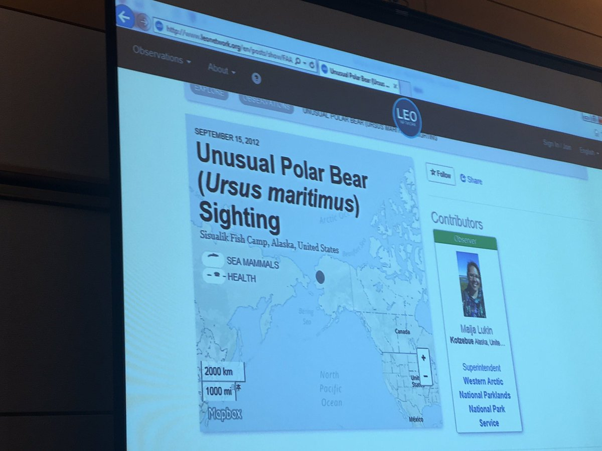 On request, #polarbear #science #GEOWeek17<br>http://pic.twitter.com/gj6YgW2JHC