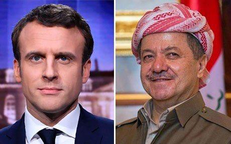 #BREAKING : #French President @EmmanuelMacron  held a telephone conversation with President of the #Kurdistan @masoud_barzani on Monday. <br>http://pic.twitter.com/JijFvKfBB5