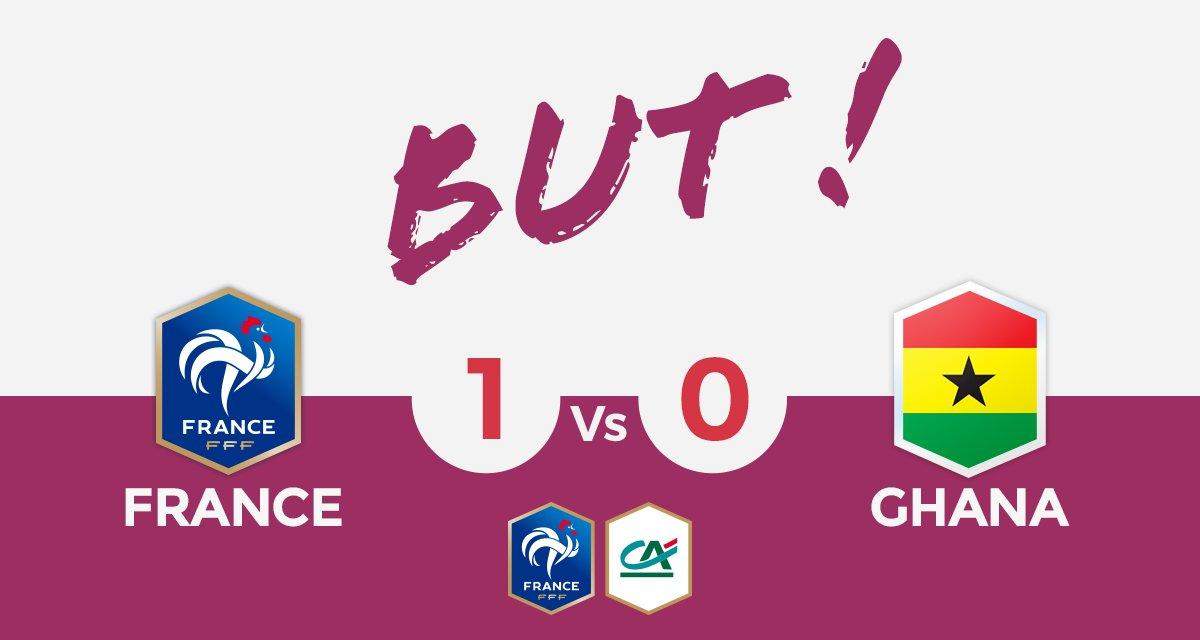 FRANCE🇫🇷 1-0 🇬🇭GHANA  BUUUUUUUUT D'OULEYE SARR ! 🇫🇷  #CôtéFoot #FRAGHA...