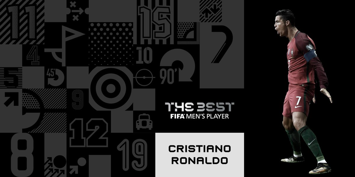 Congratulations, #CristianoRonaldo! 🙌 Winner of #TheBest FIFA Men's Pl...