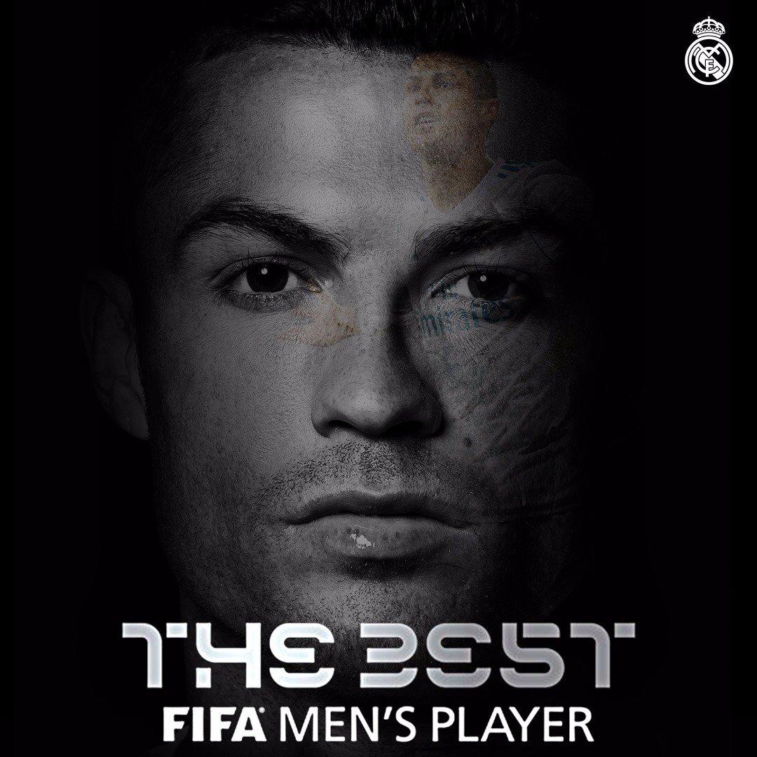RT @realmadrid: 🏆 The Best FIFA Men's Player 2017 🇵🇹 @Cristiano #TheBest #HalaMadrid https://t.co/FTpotNi4Cr