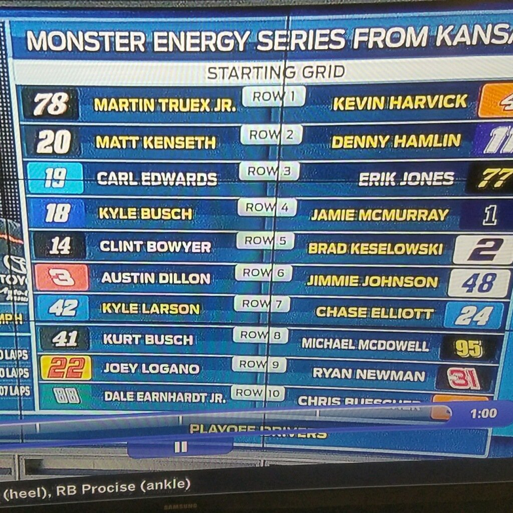 Who noticed Carl Edwards in the starting lineup on Raceday?  http:// redd.it/78a5es  &nbsp;   #NASCAR <br>http://pic.twitter.com/VEpBxwaK1e