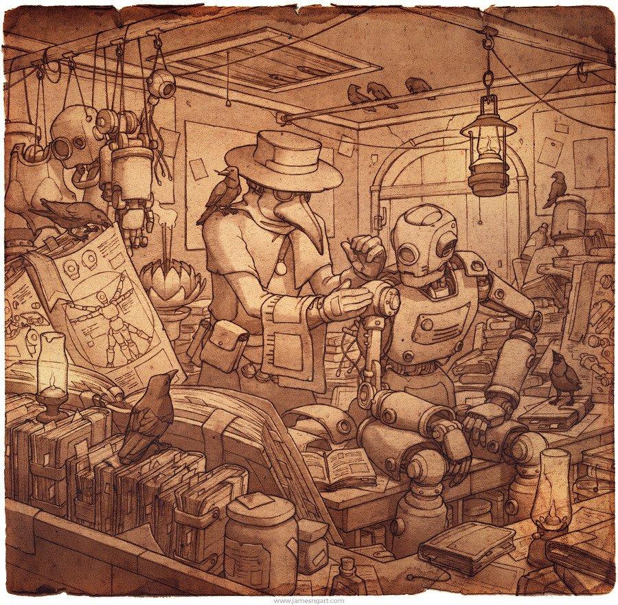 Updated my @ArtStationHQ portfolio :) #Steampunk #illustration https://t.co/K7rfnaoWNq