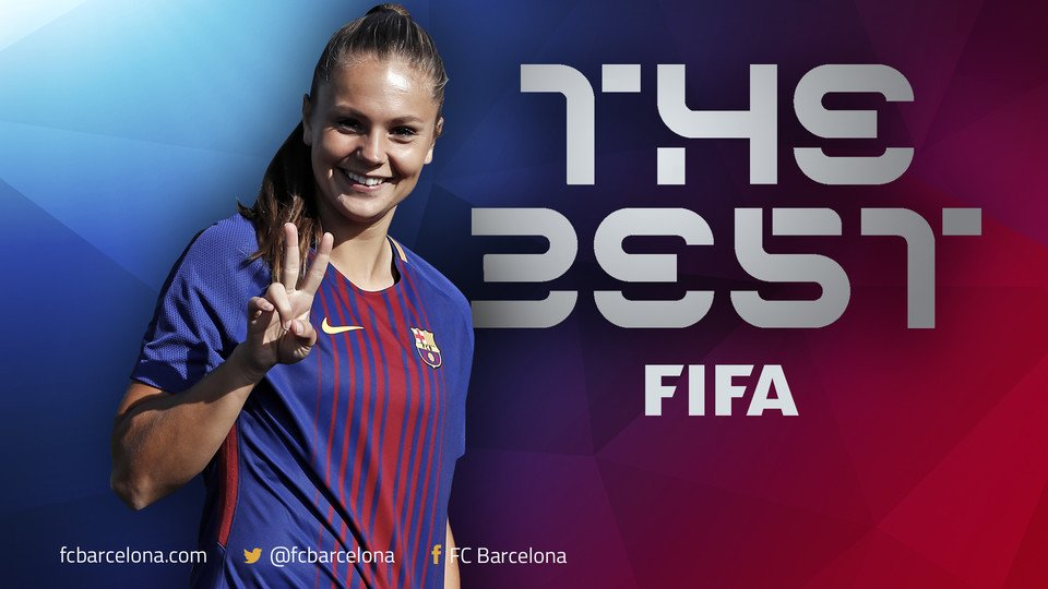 Lieke Martens wins the prize for The Best FIFA Women's Player 2017 htt...