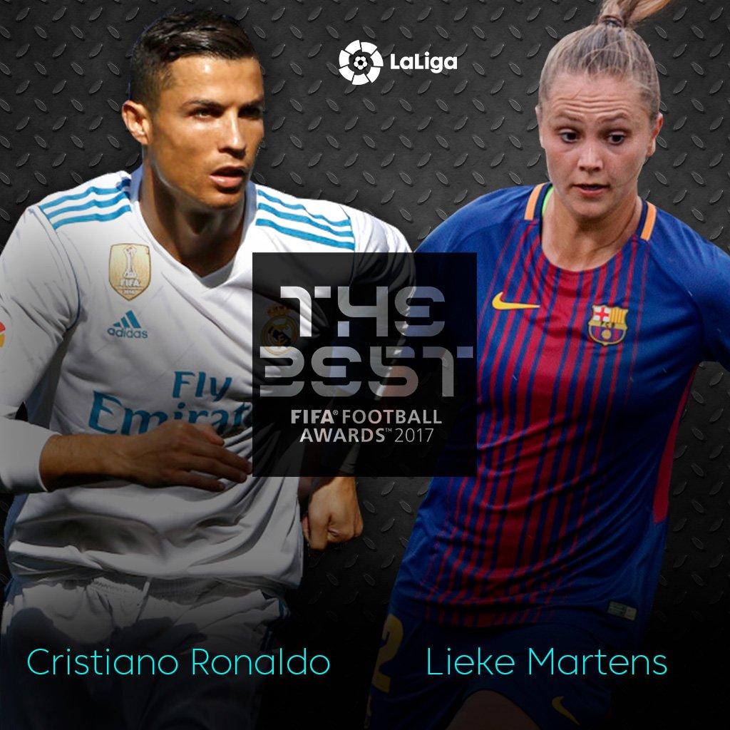 🔝 Cristiano Ronaldo: #LaLiga  🔝 Lieke Martens: #LigaIberdrola  😏😏😏😏😏😏...