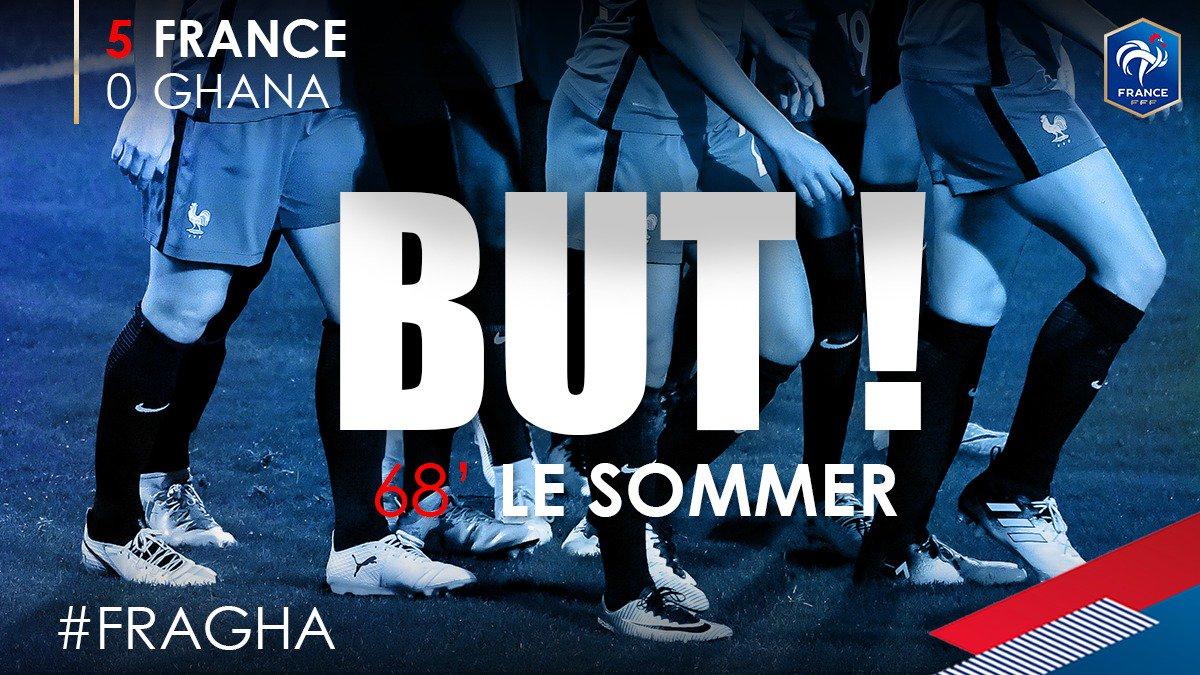 L'attaque est en feu ce soir !!! 5-0 !! @ELS_9_FRANCE #FRAGHA https://...