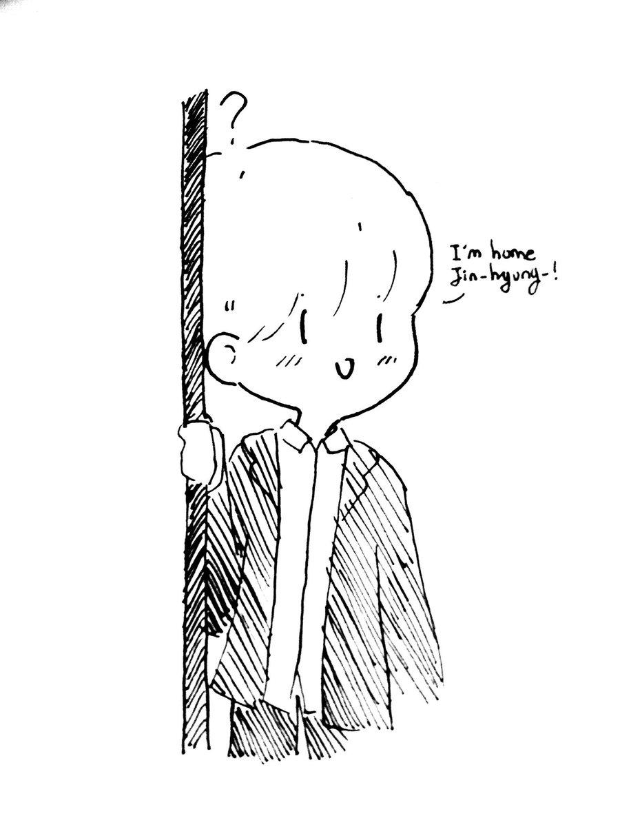 Shook-prise. #draw #doodle #방탄소년단 #sketch #inktober #FANART #blackandwhite #SUGA #JIN #yoonjin #BT21 #artwork<br>http://pic.twitter.com/kJWBfG6kSL