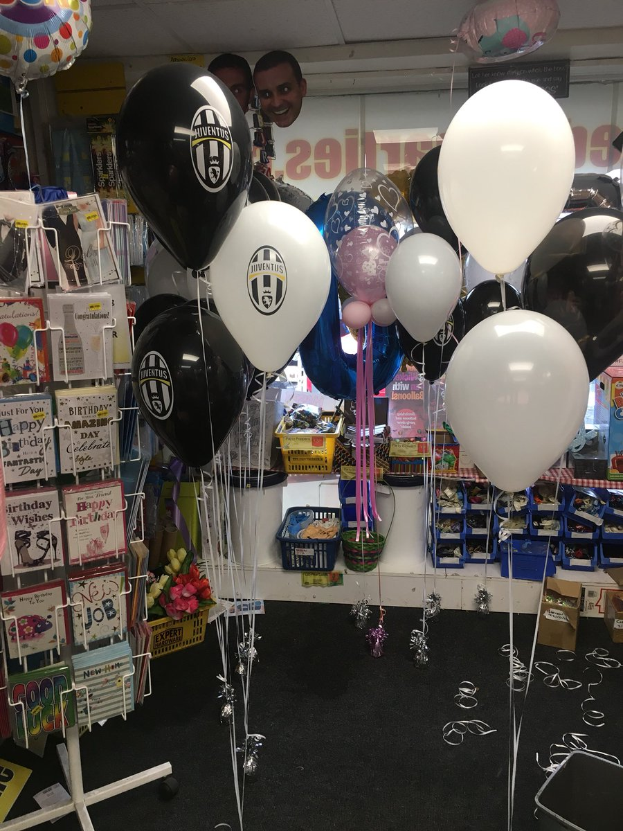Some really cool juventus balloons arrived in store today for a charity event #forzaitalia #theoldlady #juve #balloons #partydecor<br>http://pic.twitter.com/rCV5pJPbXq